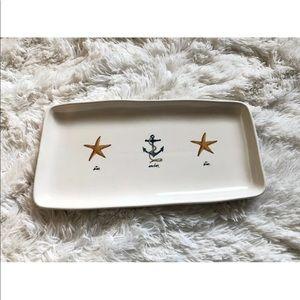 New Rae Dunn nautical anchor star tray platter